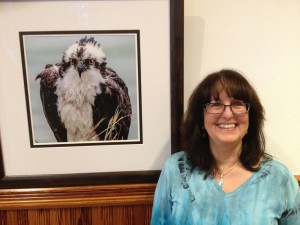 Terry with osprey at gallery low res